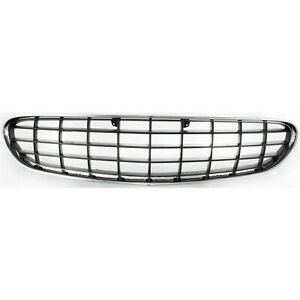 Grille For 2001 2003 Chrysler Sebring Convertible Chrome Shell W Gray Insert