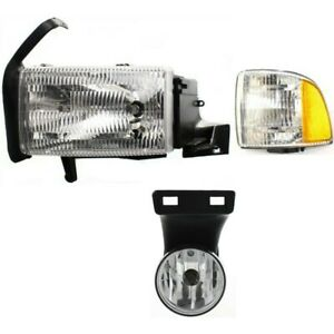 Headlight Kit For 1999 2001 Dodge Ram 1500 Left 3pc