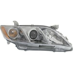 Headlight For 2007 2008 2009 Toyota Camry Right Black Housing With Bulb