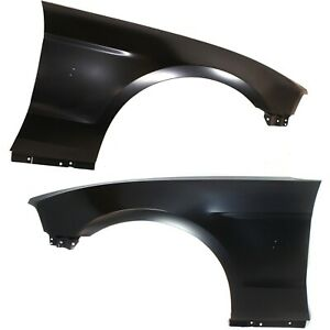 Fender Set For 2010 2014 Ford Mustang Front Primed Steel W Molding Holes Pair