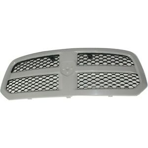 Grille For 2013 2016 Ram 1500 Gray Shell W Textured Black Insert Plastic