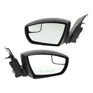 Kool Vue Power Mirror Pair For 2013 2016 Ford Escape Textured Black Folding