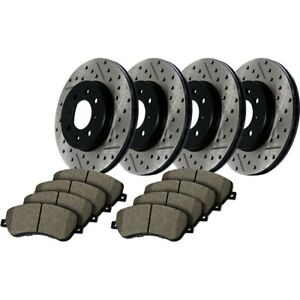 Stoptech New Brake Disc And Pad Kits 4 wheel Set Front Rear For Subaru Svx