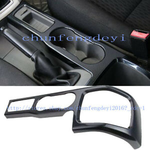 For Ford Focus 2009 2014 Carbon Fiber Interior Water Cup Panel Cover Trim 1pcs
