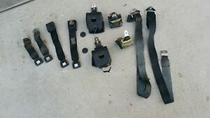 Ford Mercury Black Seat Belts Mustang Ranchero Fairline Cougar Cyclone