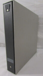 New Vintage Day timer Binder And Inserts In Slip Case Grey