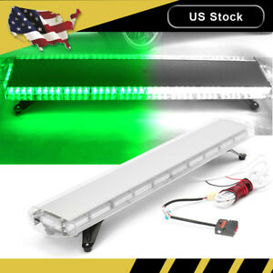 47 88 Led Emergency Warning Strobe Light Bar Tow Truck Response Gren White Us