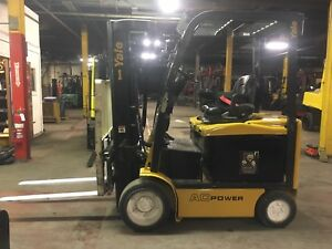 2014 Yale 5000 Lb Electric Forklift With Quad Mast And Side Shift 240 Inch Reach