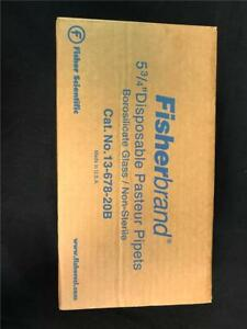 Box Of 480 Fisherbrand 5 3 4 Disposable Pasteur Pipets 13 678 20b Glass