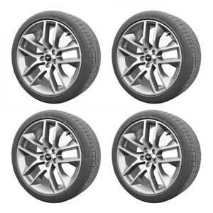 2015 2019 Ford Mustang Gt Oem Factory Silver Wheels Goodyear F1 Tires 20 X 9