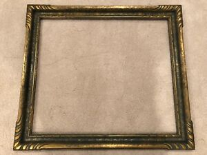 Large Antique Newcomb Macklin Style Arts Crafts Gold Picture Frame D