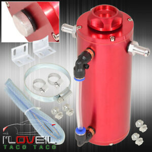 350ml Red Overflow Catch Can Recovery Tank Radiator Coolant Aluminum Reservoir