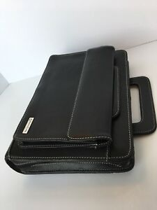 Franklin Covey Black Leather Classic Planner With Handles 1 5 Rings