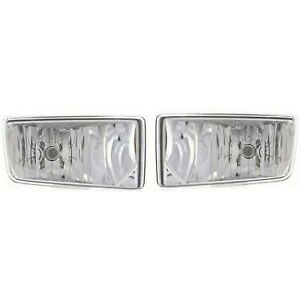2007 2013 Chevy Silverado Tahoe Suburban Avalanche Bumper Fog Lights Left right
