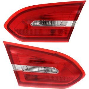 Tail Light Set For 2015 2018 Ford Focus Left And Right Inner Halogen Capa 2pc