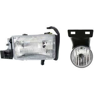 Headlight Kit For 1999 2001 Dodge Ram 1500 Right 2pc