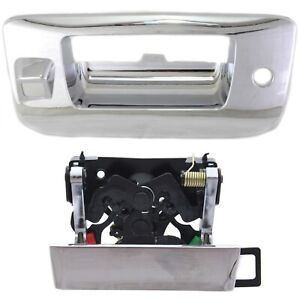 Tailgate Handle Bezel Kit With Lock Camera Hole Chrome For Silverado Sierra
