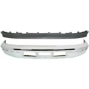 New Bumper Face Bar Kit Front Chrome F250 Truck Ford F 250 Fo1002254 Fo1095154