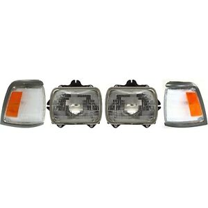 Headlight Kit For 1992 1995 Toyota Pickup Left Right 2wd 4pc