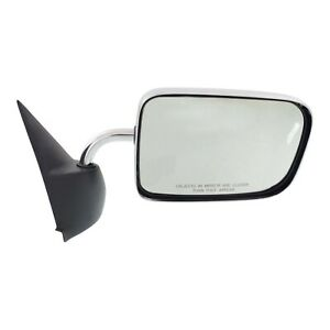 Manual Mirror For 1994 2001 Dodge Ram 1500 Passenger Side Manual Folding Chrome