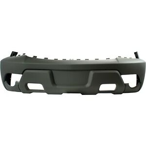 Front Bumper Cover For 2002 Chevy Avalanche 1500 W Fog Lamp Holes Textured