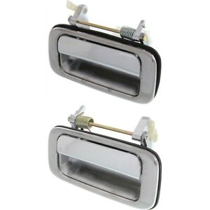 Door Handle Set For 1991 1997 Toyota Land Cruiser Rear Chrome Metal 2 Pcs