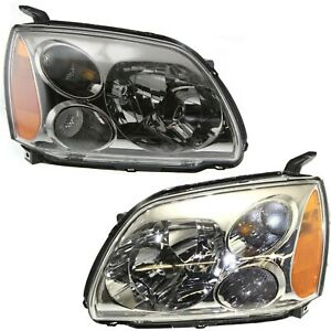 Headlight Set For 2005 2006 2007 Mitsubishi Galant Left And Right With Bulb 2pc