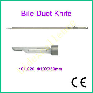 Ce Brand New Bile Duct Knife 10x330mm Laparoscopy Autoclavable