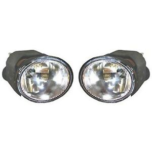 Set Of 2 Clear Lens Fog Light For 2003 04 Nissan Frontier Lh Rh W Bulbs