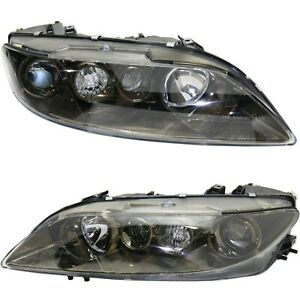 Headlight Set For 2003 2005 Mazda 6 Sport Type Left And Right With Fog Light 2pc