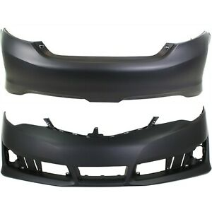 New Bumper Covers Facials Set Of 2 Front Rear To1000379 To1100297 Pair