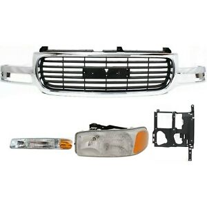 Grille Assembly Kit For 1999 2002 Gmc Sierra 1500 2000 2006 Yukon Xl 2500 4pc