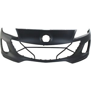 Front Bumper Cover For 2012 2013 Mazda 3 W Fog Lamp Holes Primed