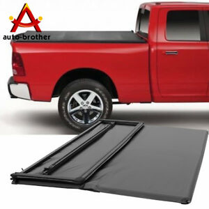 Soft Cover 5 7 Bed Tri fold Tonneau Cover New For Dodge Ram Crew 2009 2018
