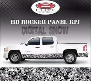 Digital Snow Camo Rocker Panel Graphic Decal Wrap Truck Suv 12 X 24ft