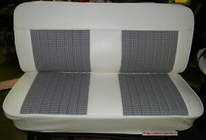 47 55 Chevy Truck Houndstooth Bench Upholstery Seat Cover