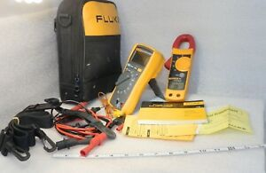 Fluke 116 322 Digital Multimeter Clamp Combo Very Nice With Accessories