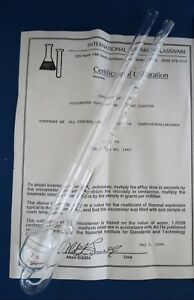 Cannon Ubbelohde Viscometer Size 75 With Certificate Of Calibration