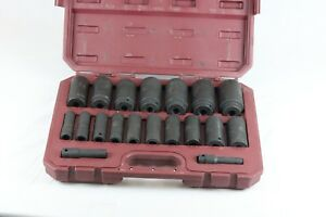 Matco Tools 1 2 dr 19 Pc Sae 6pt Impact Socket Set Scp196v 9 l156315b