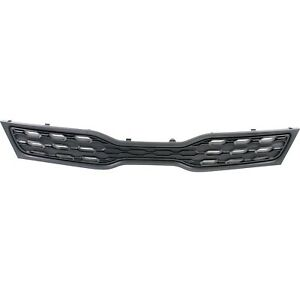 Grille For 2012 Kia Rio Hatchback Textured Black Plastic