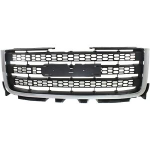 Grille Chrome With Textured Black For 2011 14 Gmc Sierra 2500 Hd Sierra 3500 Hd