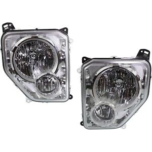 Headlight Set For 2008 2012 Jeep Liberty Left And Right Halogen W Bulb Capa 2pc