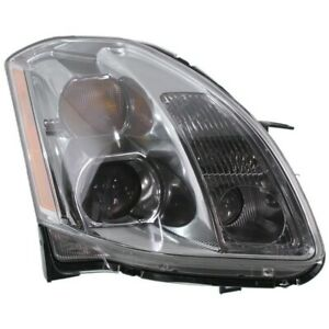 Headlight For 2005 2006 Nissan Maxima Right Xenon Clear Lens Hid With Bulb