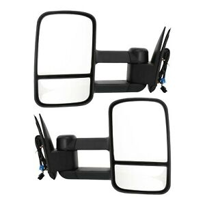 Power Towing Mirror For 2003 2006 Chevy Silverado 1500 Manual Fold Textured 2pc
