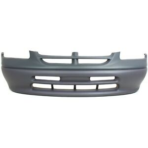 Front Bumper Cover For 1997 1998 Dodge Grand Caravan Base se Models Primed