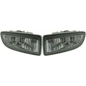 Set Of 2 Clear Lens Fog Light For 98 05 Toyota Land Cruiser Lh Rh Capa W Bulb