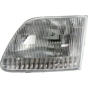 Halogen Headlight For 1997 2002 Ford Expedition Left W Bulb Capa