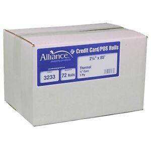 Alliance Thermal Paper Receipt Rolls 2 1 4 X 85 White 72 Rolls