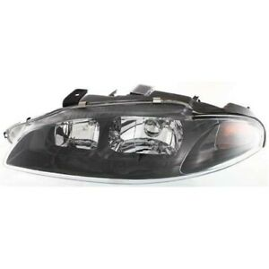 Headlight For 97 98 99 Mitsubishi Eclipse Left Clear Lens With Bulb