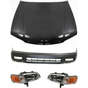 Bumper Cover Kit For 94 95 Honda Accord 4 Cylinder 4pc